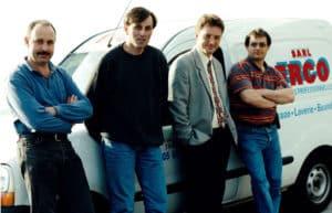 Olivier Béguier, Thierry Drapeau, Francis Pouvreau et Jean-Luc Rossard